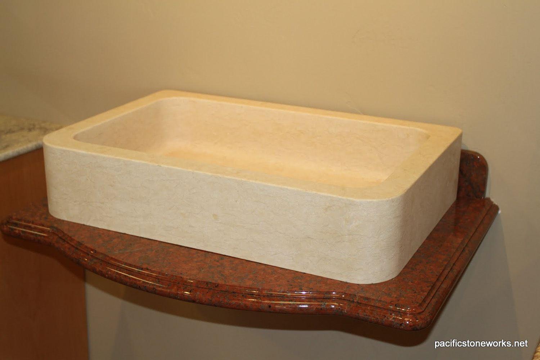 PSW Designed/Fabricated  Custom Sink (Solid Stone Block)