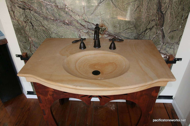 PSW Designed/Fabricated Limestone Vanity