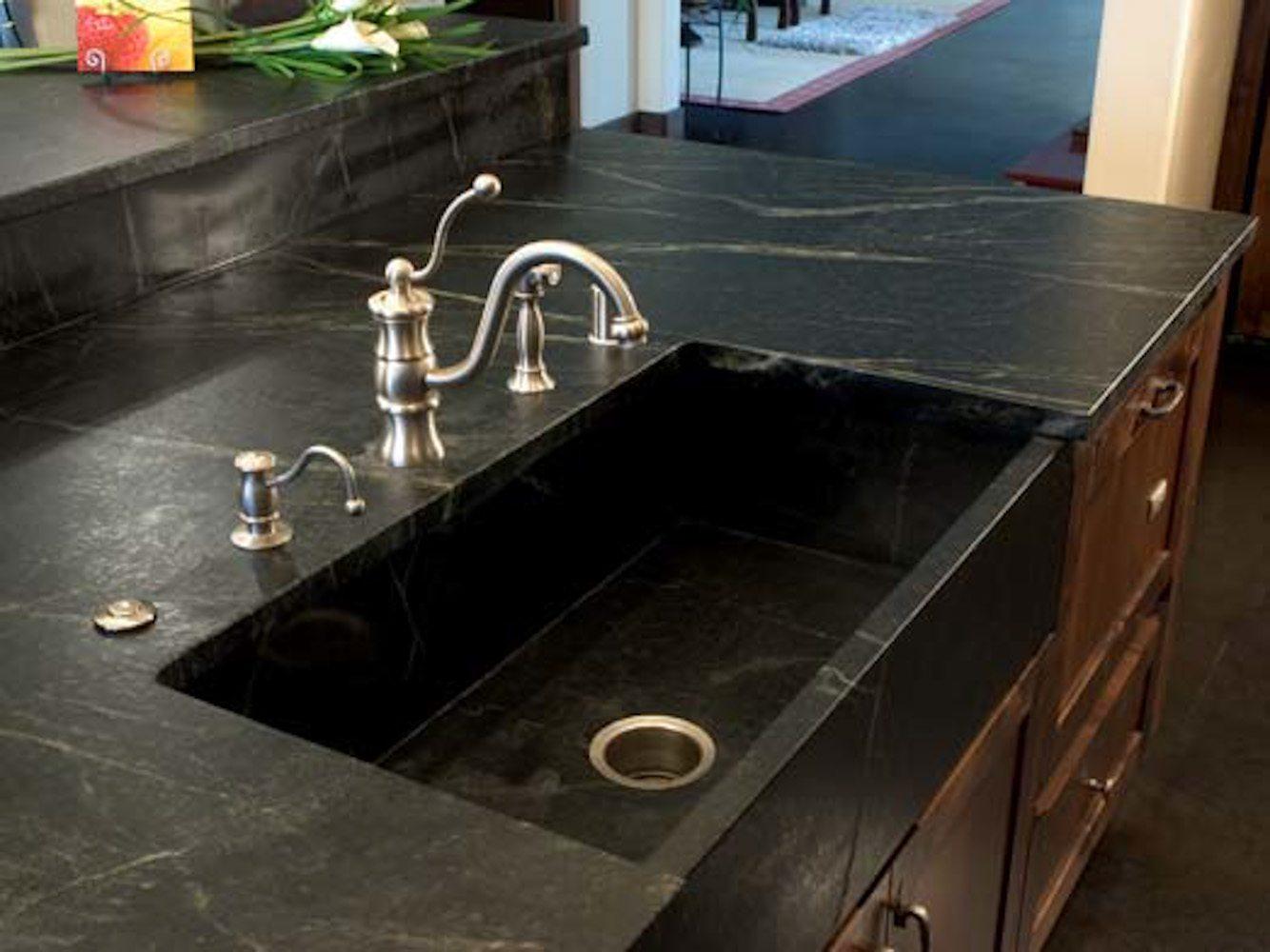 PSW Designed/Fabricated Custom Soapstone Farm Sink