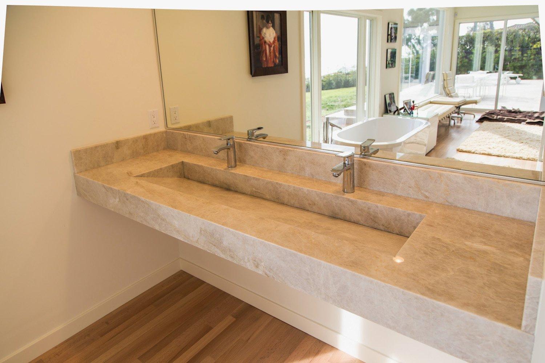 PSW Designed/Fabricated Custom Quartzite Slot Sink
